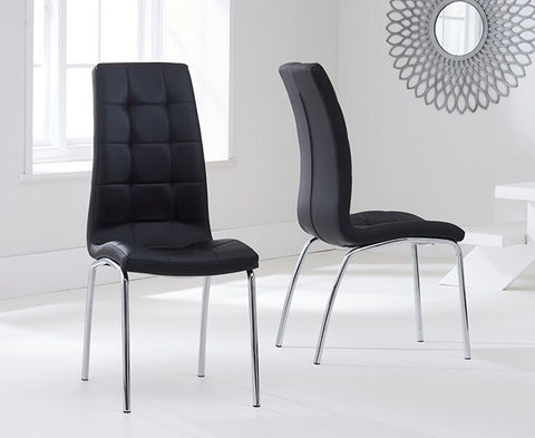 California Dining Chair with Chrome Legs and PU Upholstery (Pair)