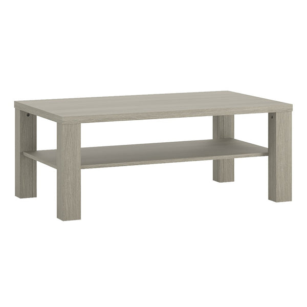 Madras Large Coffee Table with Shelf in Champagne Melamine
