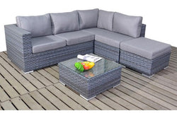 Platinum Small Corner Sofa (R) with Coffee Table