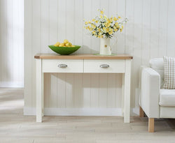 Sandringham Oak & Cream Console Table
