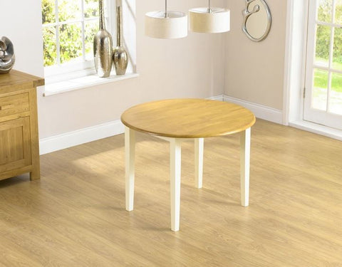 Genovia 100cm Solid Hardwood Drop Leaf Ext Dining Table