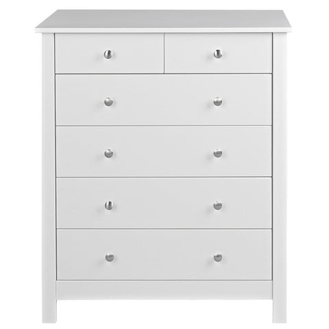 Florence Wooden 4+2 Chest of Drawers - 3 Colours