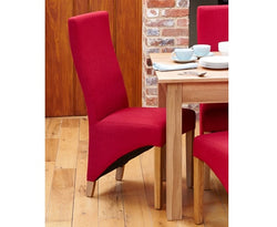 Oak Full Back Upholstered Dining Chair Berry or Sage - 2 Colours (Set of two)