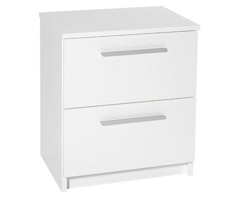 Designa Wooden 2 Drawer Bedside Cabinet - 2 Colours