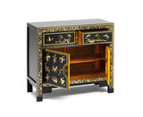 The Nine Schools Oriental Decorated Black Sideboard