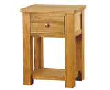 Aston Oak One Drawer Lamp Table