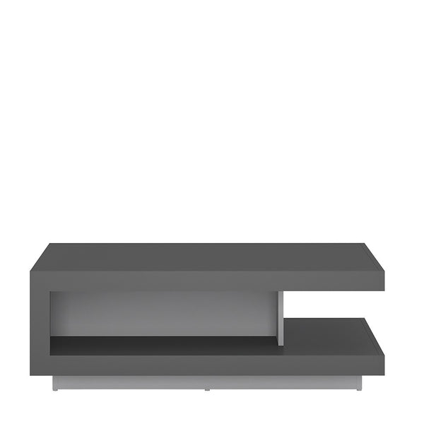 Lyon Designer Coffee Table in Platinum Grey Gloss