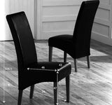 Roma Solid Oak Leather Upholstery Dining Chairs (Pair)