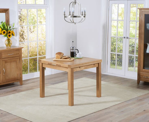 Cambridge 90cm Solid Oak Extending Dining Table