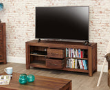 Mayan Solid Walnut Widescreen Television Cabinet