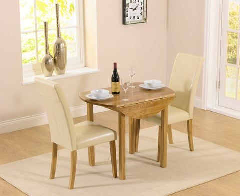 Promo Round Extending Dining Set with 2 Atlanta Chairs