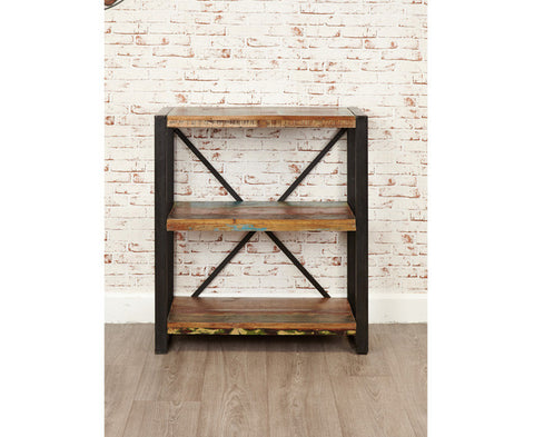 Urban Chic Low Bookcase Stylish Reclaimed Wood