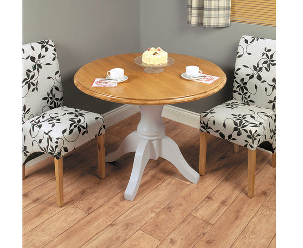 Chadwick Satin Lacquered Oak Round Dining Table