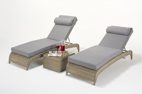 Rural Lounger (Pairs) & Side Table
