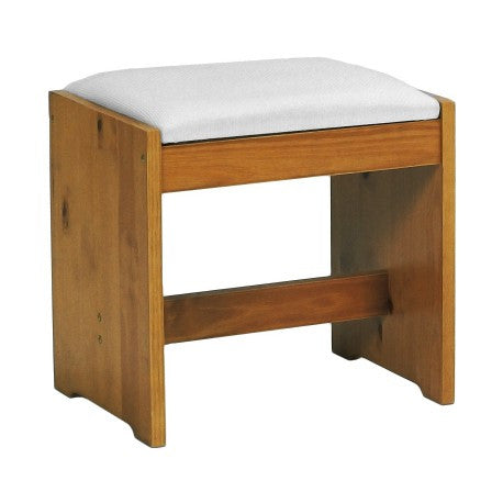 Dressing Table Stool Upholstered Solid Wood Pine