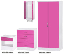 Alpha Pink Gloss & White 2 Door Std Set
