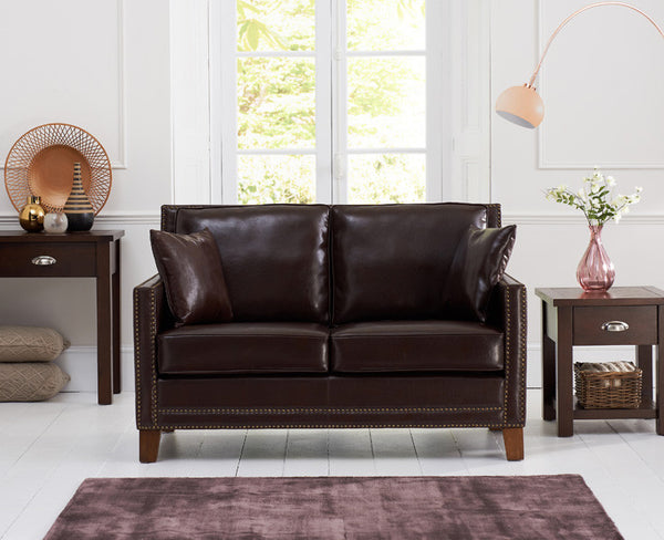 Arundel Brown Leather 2 Seater Sofa