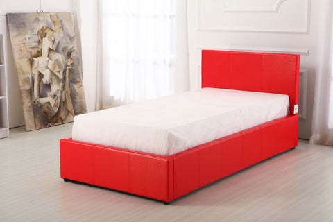 Boston Red 3ft Ottoman Storage Bed
