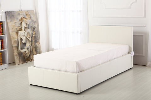 Boston White 3ft Ottoman Storage Bed Frame