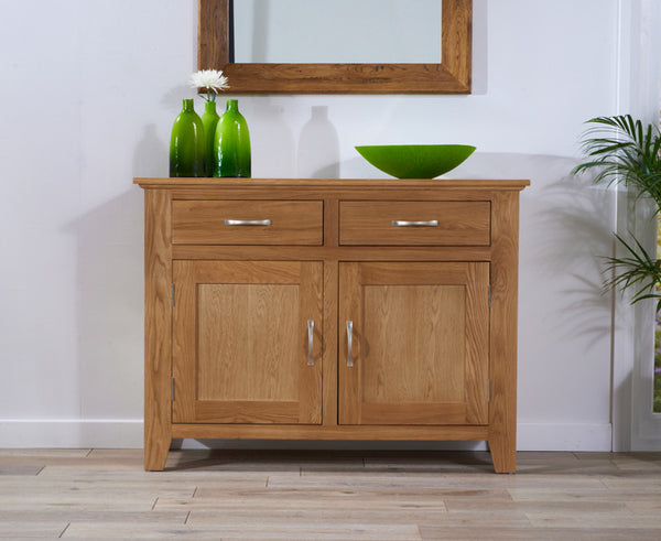 Cambridge 120cm Solid Oak Sideboard (2 Drawers + 2 Doors)