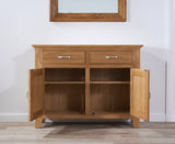 Cambridge 120cm Oak Sideboard (2 Drawers + 2 Doors)