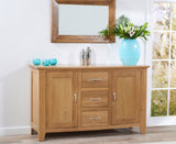 Cambridge 150cm Oak Sideboard (3 Drawers + 2 Doors)