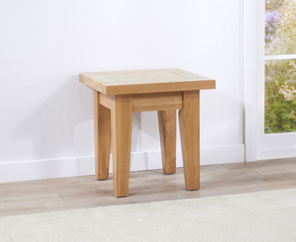 Cambridge Solid Oak Lamp Table