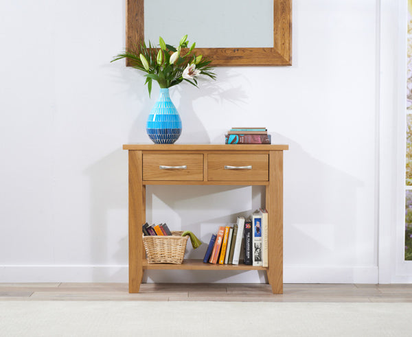 Cambridge 85cm Solid Oak Console Table