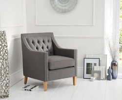 Casa Bella Grey Fabric Upholstery Armchair