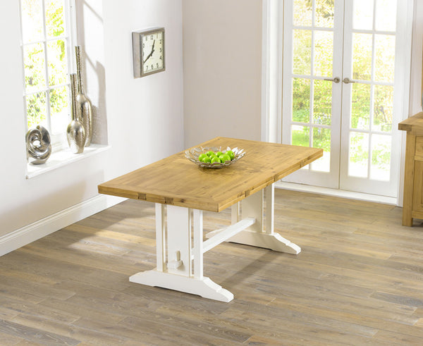 Cavanaugh Oak & Cream Dining Table