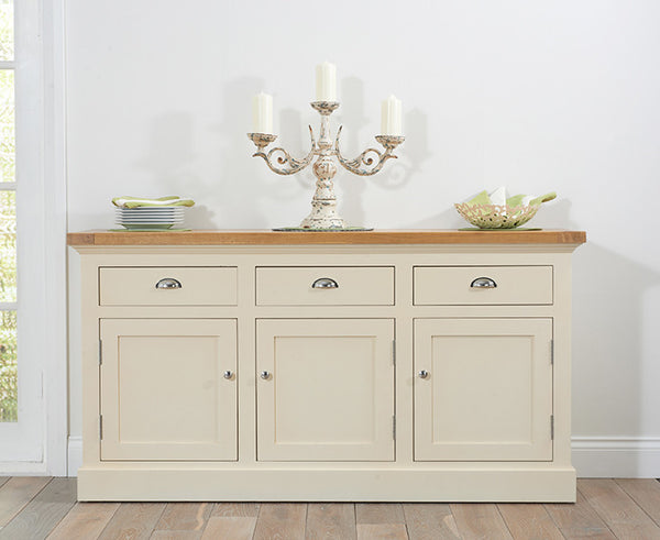 Cavanaugh Large Solid Oak & Cream Sideboard