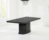 Como 200cm Black Marble Dining Table