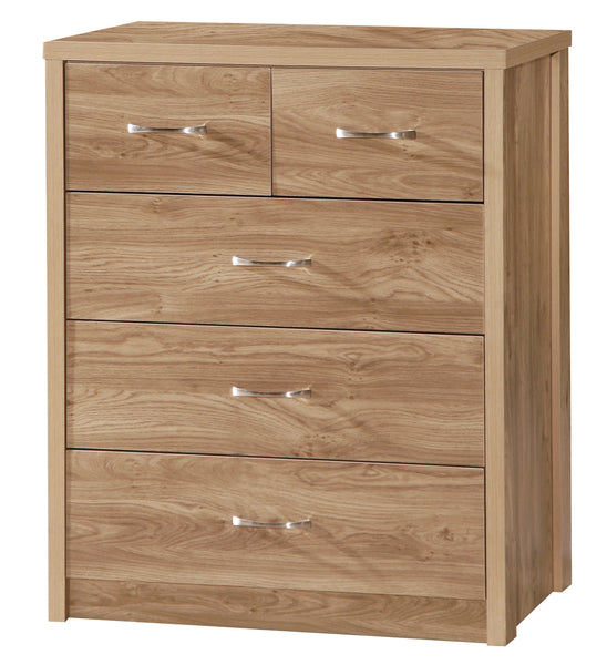 Holland Oak 3+2 Chest Of Drawers