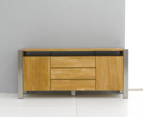 Montana Solid Wood Sideboard with Metal Legs