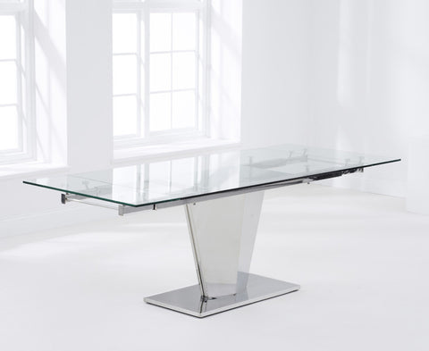 Lucille 160 – 220cm Extending Glass Dining Table