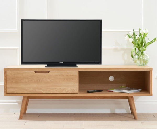 Tribeca Oak Solid Hardwood TV Unit
