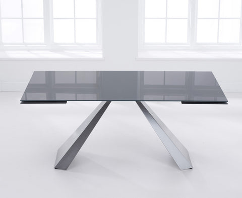 La Linea 180 – 260cm Extending Dark Grey Glass Dining Table