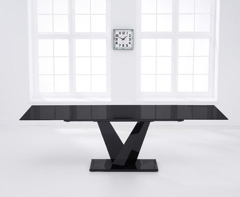 Isla 180 – 260cm Extending Black Glass Dining Table