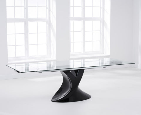 Murcia 180 – 260cm Extending Black Glass Dining Table