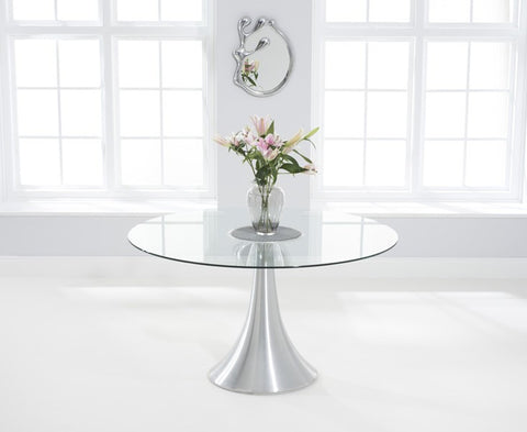 Petra 135cm Round Glass Dining Table