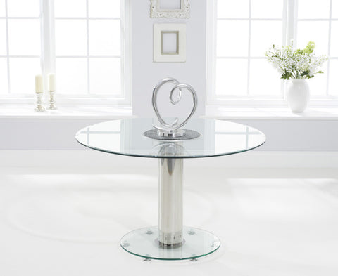 Serenity 120cm Round Glass Dining Table