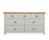 Sandringham Oak and Grey 4 + 3 Drawer Chest