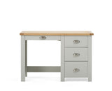 Sandringham Oak and Grey Single Pedestal Dressing Table