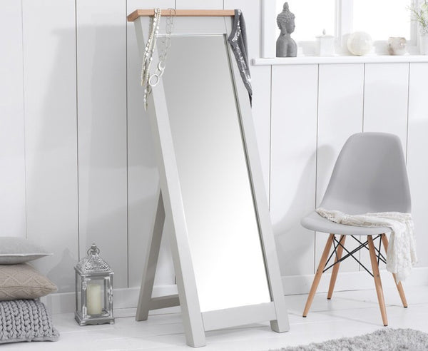 Sandringham Oak and Grey Cheval Mirror