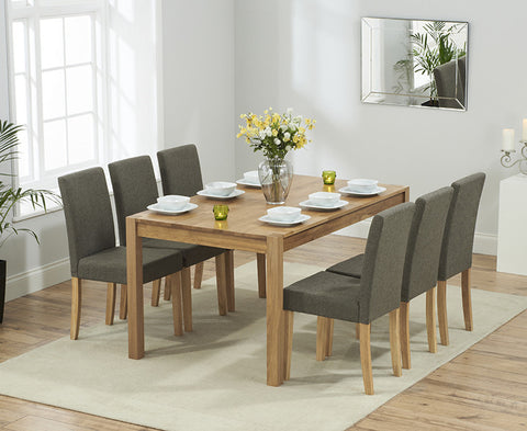 Promo 150cm Dining Set with 6 Maiya Chairs 4 Colours