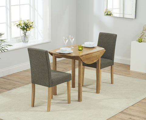 Promo Round Extending Dining Set with 2 Maiya Chairs