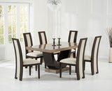 Rivilino 170cm Brown Marble Dining Table