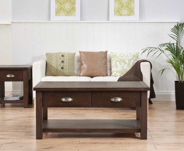 Sandringham Rustic Dark Oak Coffee Table