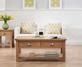 Sandringham Oak Solid Hardwood Coffee Table