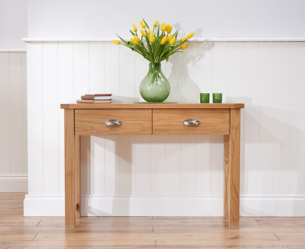 Sandringham Oak Solid Hardwood Console Table